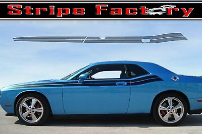 3M STRIPE FACTORY DECAL DODGE CHALLENGER FRONT ANGLE DUEL 2008 2009 2010