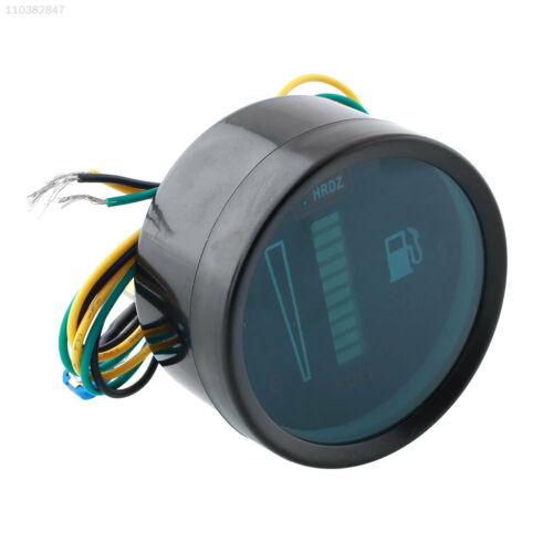 """FDAD Universal Car Motor 2/"""" 52mm Fuel Meter LED Digital 12V System Level Gauge"""