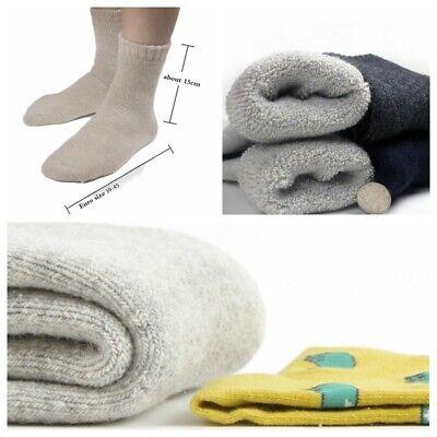 Men Sherpa Fleece Lining Socks Thick Thermal Work Boots Winter Outdoor Warm