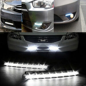 Super-White-8-LED-Universal-Car-Light-DRL-Daytime-Running-Head-Lamp-Light-1PCS