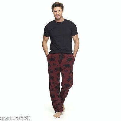 Kohls Mens Microfleece Bear Moose Eagle coyote Pajama Lounge Pants Sleepwear NWT
