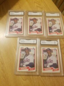 (5) Sammy Sosa RC 1990 Fleer Baseball card #548 NM GMA 7 WHITE SOX