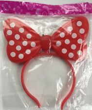 50 Minnie Mouse Headband Flashing Bow Polka Dot Blinking LED Party Lot