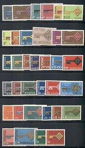 EUROPA-Complete-1968-set-common-design-issues-35-diff-og-NH-VF-Scott-57-75