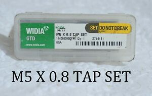 Widia-Gtd-19906-Straight-Flute-Tap-3-PIECE-M5x0-8-4-Flutes-Metric-Coarse