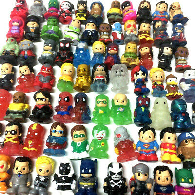 Random pick Lot 30PCS Toy Ooshies DC Comics Marvel Disney collect Figure doll