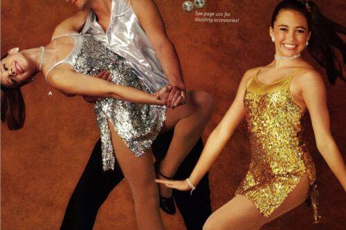 SEQUIN DRESS Complete leotard under dress Gold Silver Dance Costume side slit