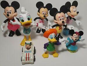 Disney-Lot-Of-8-Figures-Mickey-Minnie-Donald-amp-Daisy
