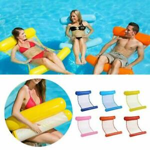 Swimming-Inflatable-Floating-Float-Water-Hammock-Pool-Lounge-Bed-Chair-Summer