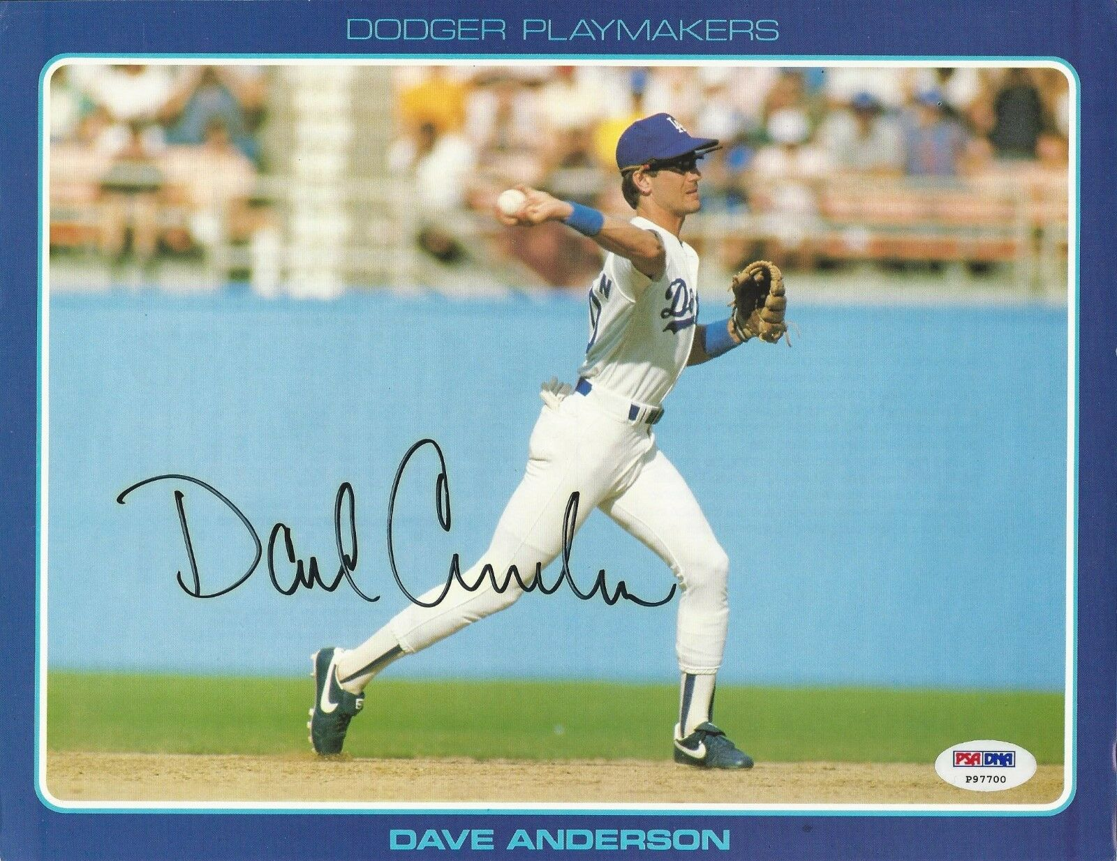Dave Anderson Los Angeles Dodgers signed 8x10 photo PSA/DNA # P97700