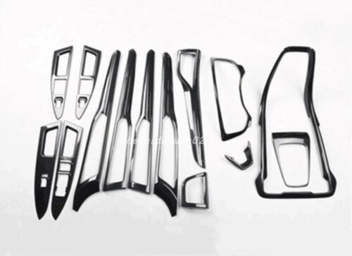 Carbon fiber style Car Interior kit Cover Trim For Ford Fusion Mondeo 2013-2016