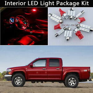 8pcs red led car interior lights package kit fit 2004 2012 chevrolet colorado j1 for Chevy colorado interior lights
