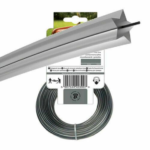 50m of Bradas 2mm ROUND Brushcutter Dual Star Strimmer Trimmer Cord Line Wire
