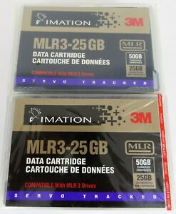 IMATION-3M-MLR3-25-50GB-Data-Tape-Cartridge-Lot-of-6-NEW-Factory-Sealed