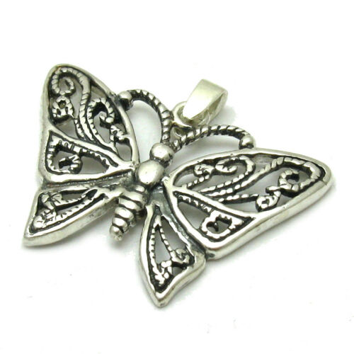STERLING SILVER PENDANT BUTTERFLY SOLID 925 PE001063 EMPRESS