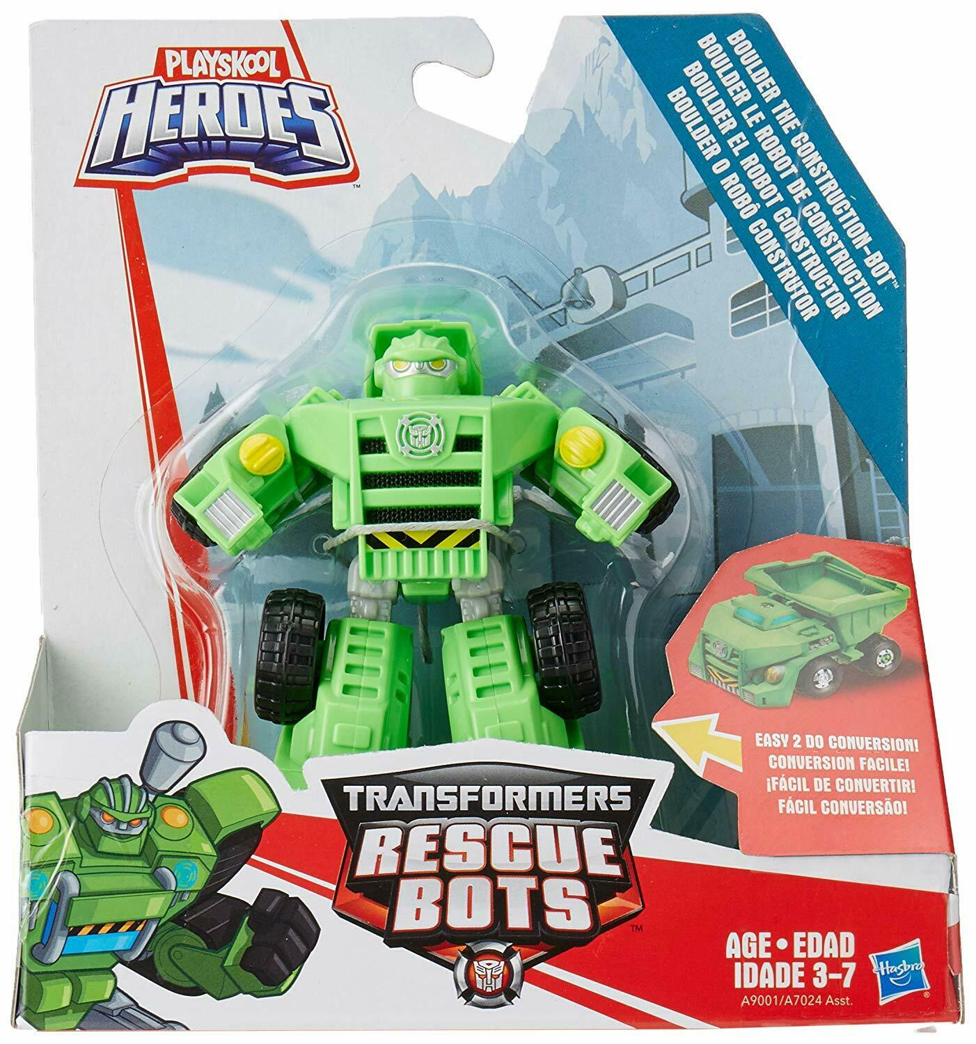 NEW    PLAYSKOOL HEROS TRANSFORMERS RESCUE BOTS BOULDER THE CONSTRUCTION BOT 4f1b57