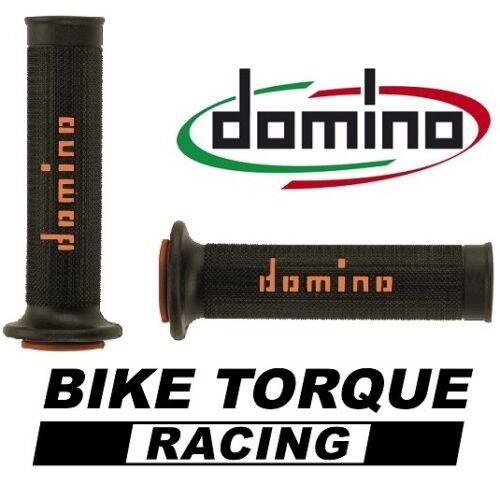 Honda CBR400 NC29  Black /& Orange Domino RR Diamond Handle Bar Grips