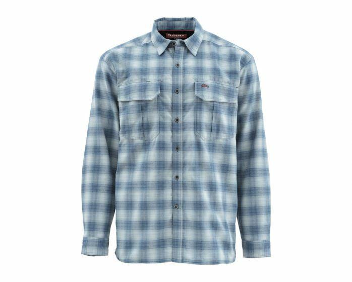 Simms - Coldweather Long Sleeve Shirt -Admiral Blau Plaid  Größe Large - Closeout
