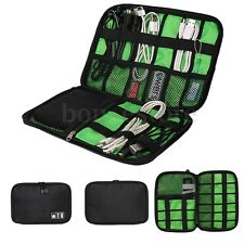 US Travel Portable Storage Organizer Bag Case Memory Card USB Cable Earphone Kit