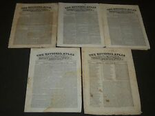 1836-1837 THE NATIONAL ATLAS & SUNDAY MORNING MAIL NEWSPAPER LOT OF 5 - NP 2056