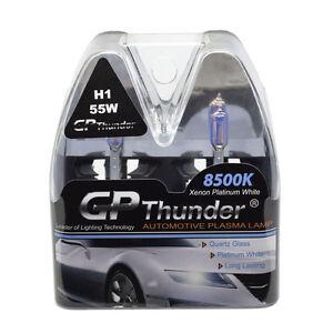 gp thunder ii 8500k h1 xenon quartz halogen light bulbs