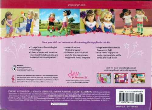 EASY~FUN! KIDS CRAFT KIT MAKE AMERICAN GIRL DOLL SPORTS GEAR 35+ PROJECTS