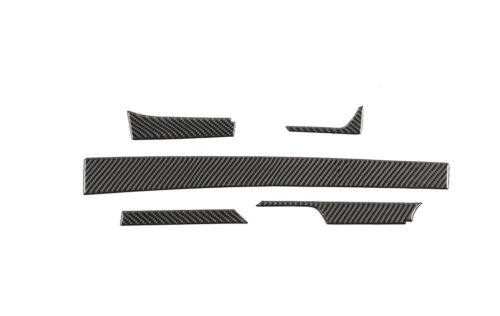 12PCS Real Carbon Fiber Central Console Strip Fit For Chevrolet Camaro 2017-2019