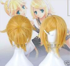 Hot!!!Vocaloid wig Kagamine Rin&Kagamine Len Blonde cosplay hair wig Kagamine