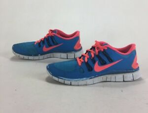 best loved d4165 7280f Details about Mens Primo Distressed Nike Free 5.0 Running Shoes Blue Hero  Atomic Red Size 9.5