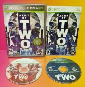 Army-of-Two-2-40th-Day-MicroSoft-XBOX-360-Game-Lot-Tested-Works