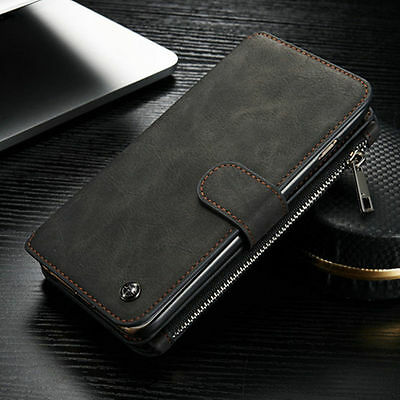 Luxury Genuine Leather Magnetic Wallet Card Flip Case For iPhone 6 Plus 6s Plus