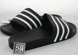 new product b48a2 3a63f Image is loading New-Adidas-ADILETTE-Slides-Sandals-Mens-Shoes-Black-