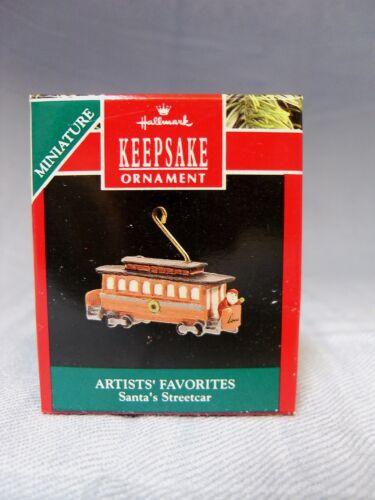 1990 Hallmark Miniature Artists/' Favorites Santa/'s Streetcar