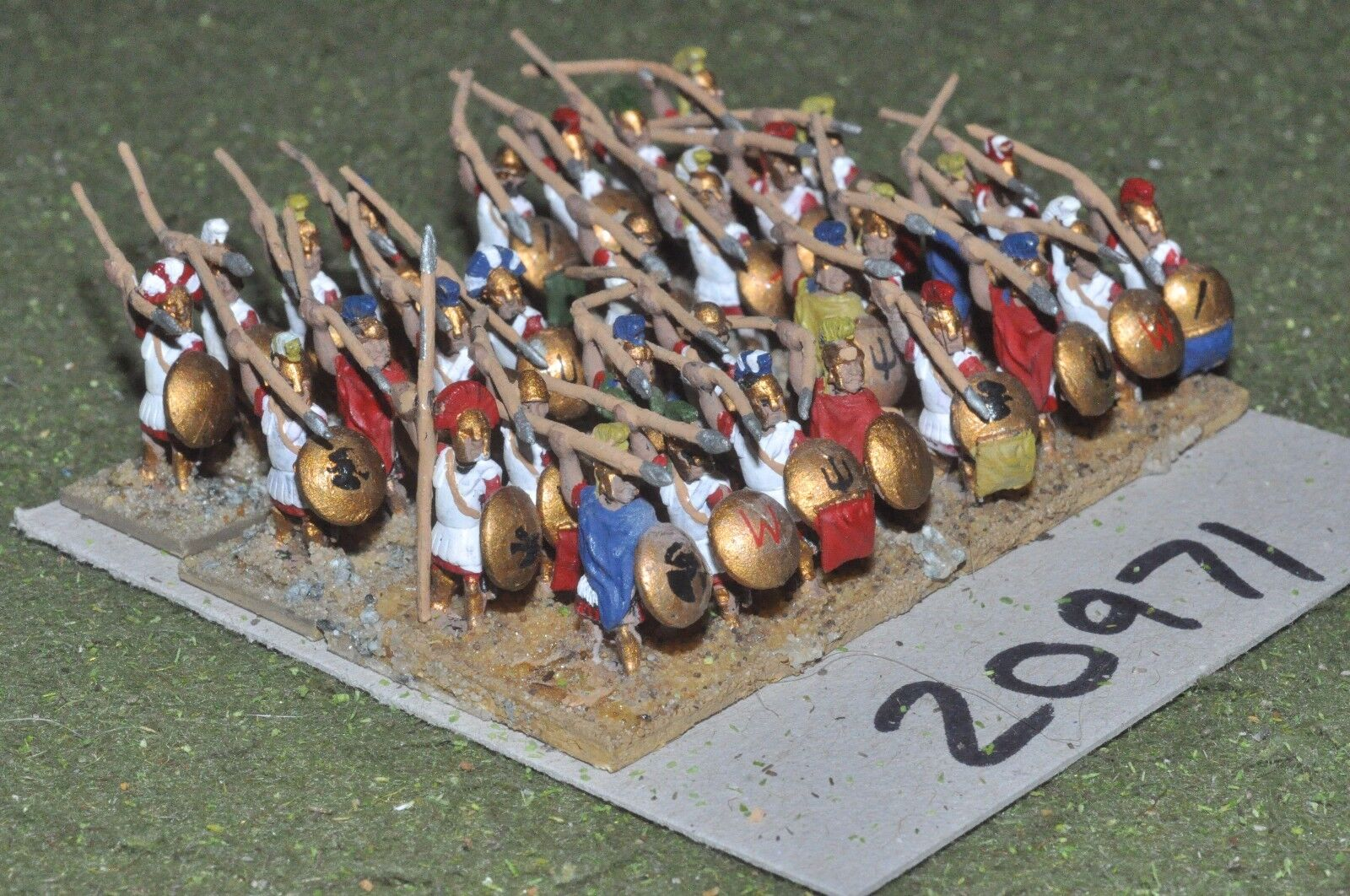 15mm classical   greek - ancient hoplites 32 figs - inf (20971)