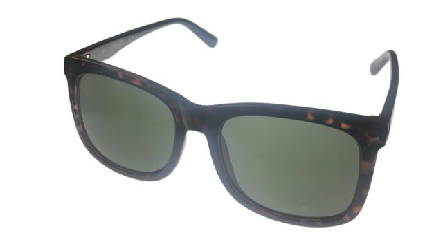 cf6596f7a7 Kenneth Cole Reaction Mens Soft Square Shiny Tortoise Sunglass KC1324 52N