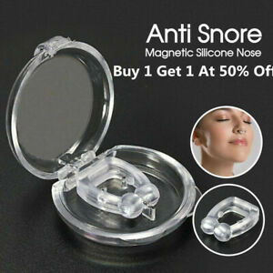 Silicone-Magnetic-Anti-Snore-Stop-Snoring-Nose-Clip-Sleeping-Aid-Apnea-Guard-USA