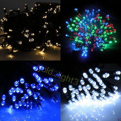 100 200 300 400 500 LED Solar Powered Fairy String Light Garden Party Decor XMAS