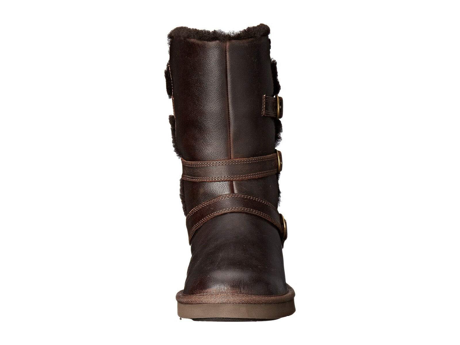 NEW WOMEN UGG AUSTRALIA BOOT BECKET CHOCOLATE 1008827 WATER RESISTANT LEATHER