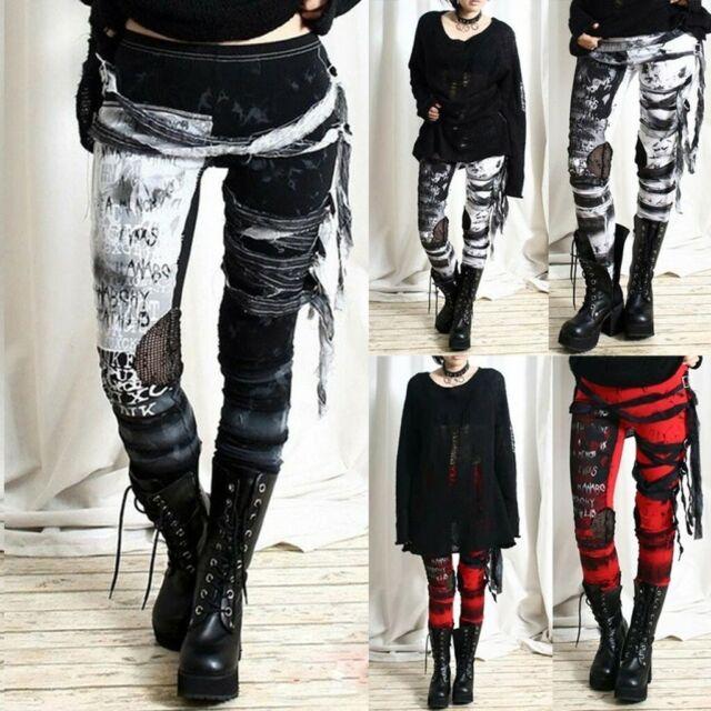 Women's Ultra Novelty Trousers Gothic Rocker Vintage Punk Tie-Dye Leggings Pants