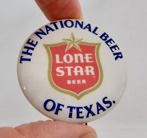 Vintage Lone Star Beer Advertising Pinback Button - 82750