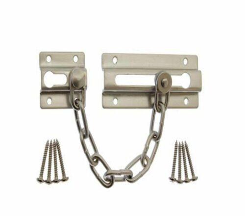 FOCUS SECURITY DOOR CHAIN IN SATIN NICKEL FINISH NEW 36617