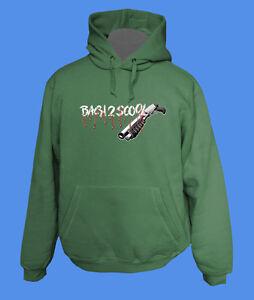 Hoody-Kapuzenpullover-Back2Scool-Gun-move2be-Schule-gruen-L