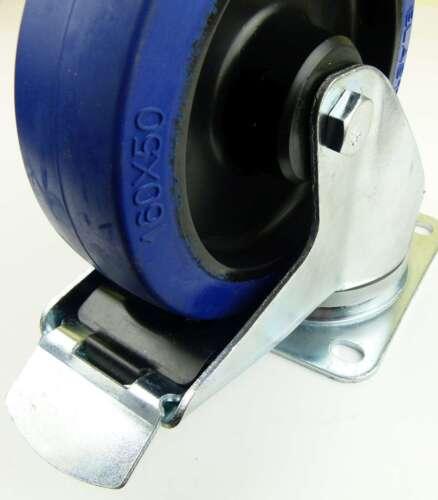 2 Sets SL 160mm Schwerlast Blue Wheel Lenkrollen mit//ohne Bremse Transportrollen