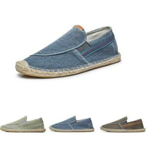 Chic-Mens-Espadrilles-Slip-On-Casual-Canvas-Lightweight-Casual-Loafers-Shoes