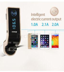 Auto-Bluetooth-Freisprecheinrichtung-FM-Transmitter-mit-Mic-AUX-USB-Micro-SD-MP3