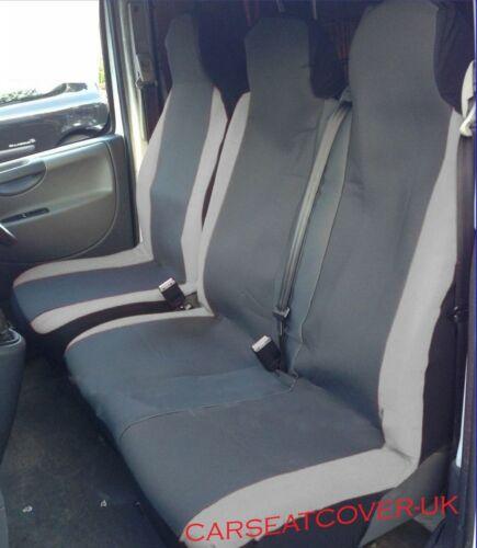 GREY MotorRacing VAN Seat COVERS 16 on Single Double LDV V80