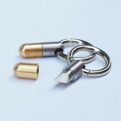 EDC Capsule with Key Ring Pendant Sharp Cutting Unboxing Micro Knives Cut Tools