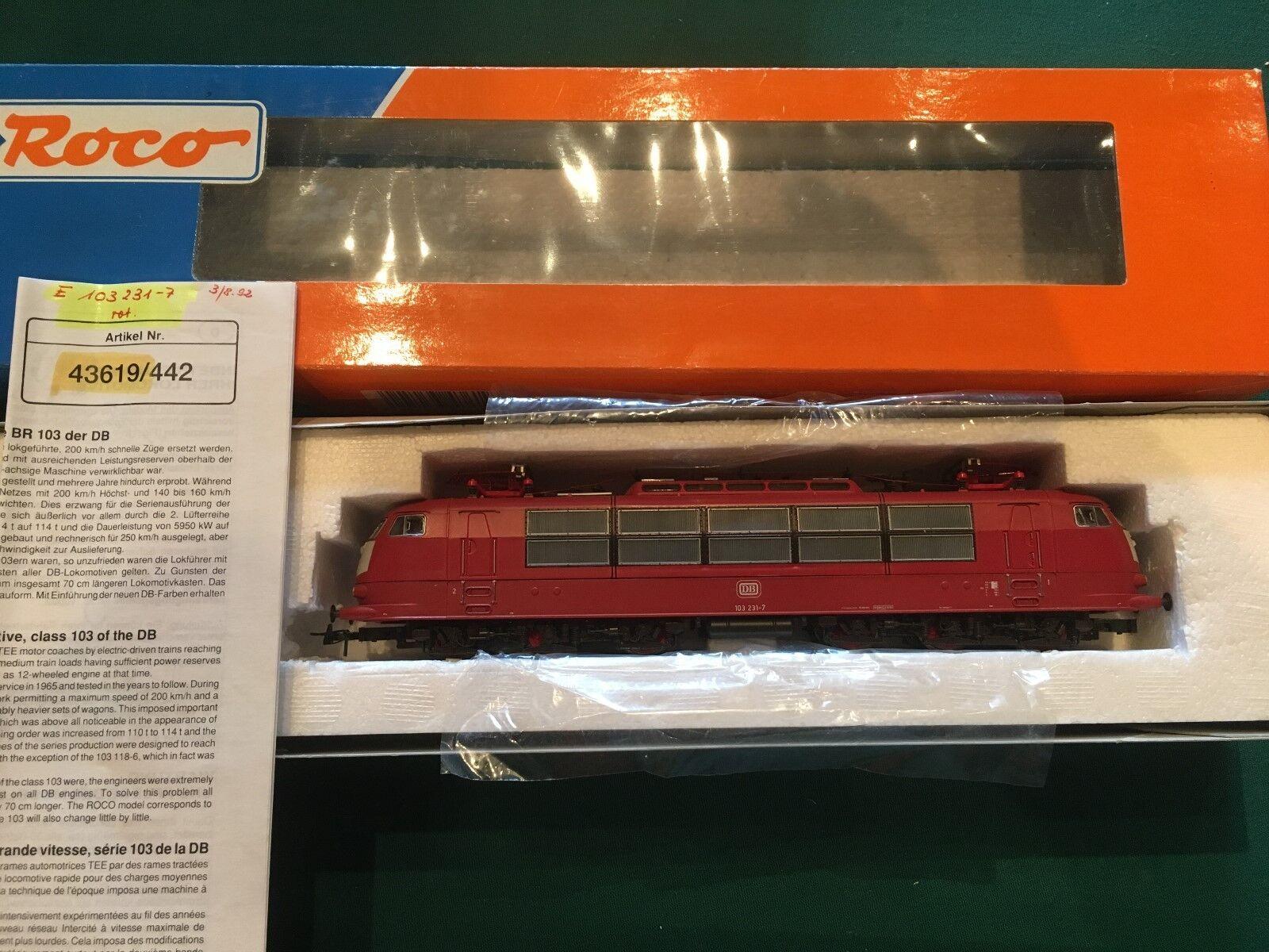 ROCO, Nr. 43619, Elektrolokomotive, rot, DB 103 231-7, OVP