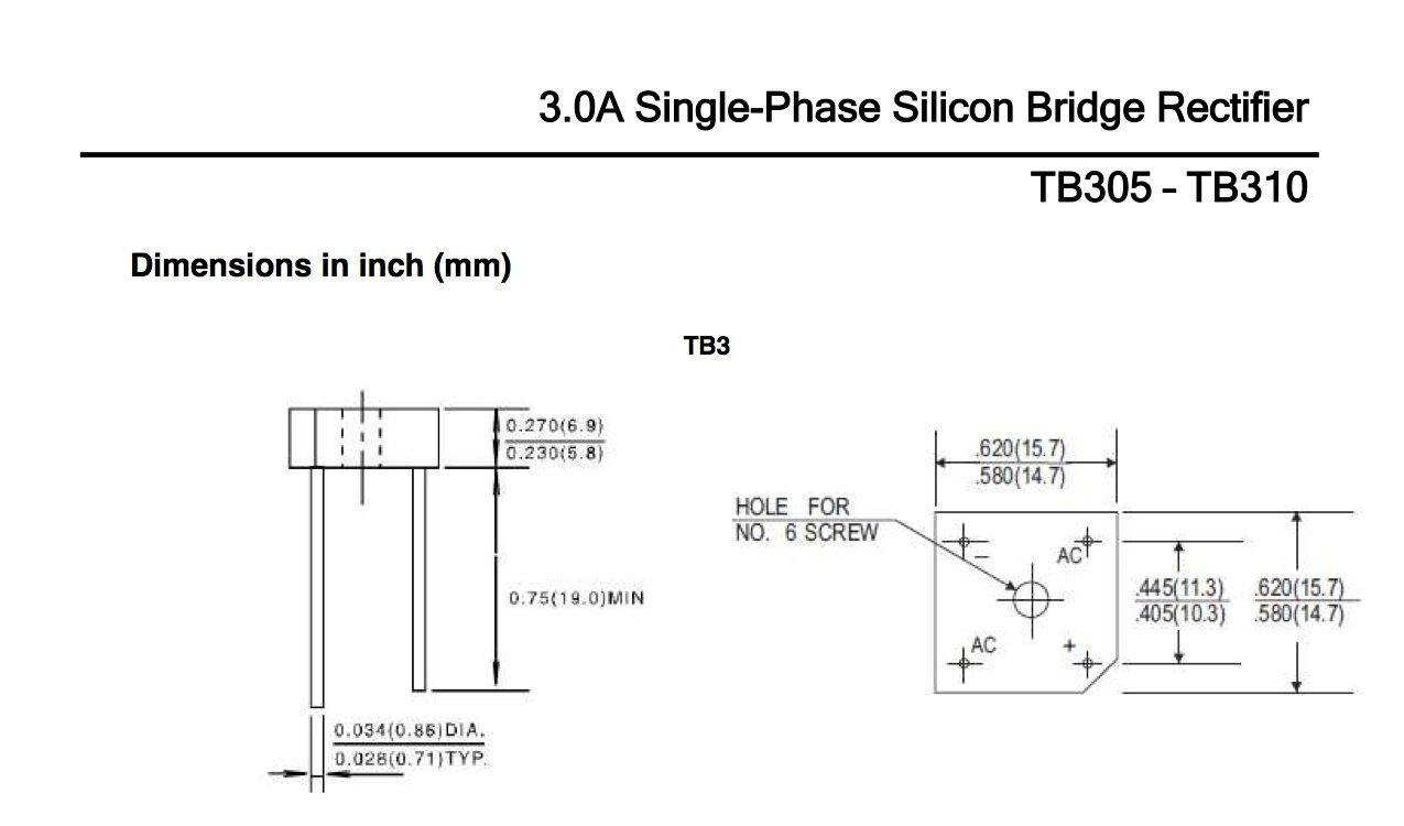 tb305 taitron 3 0a 50v single phase bridge rectifier kbpc1005 see rh ebay com