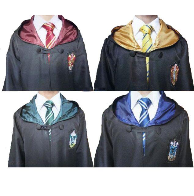 Harry Potter Youth Adult Robe Cloak Gryffindor/Slytherin/Hufflepuff/Ravenclaw